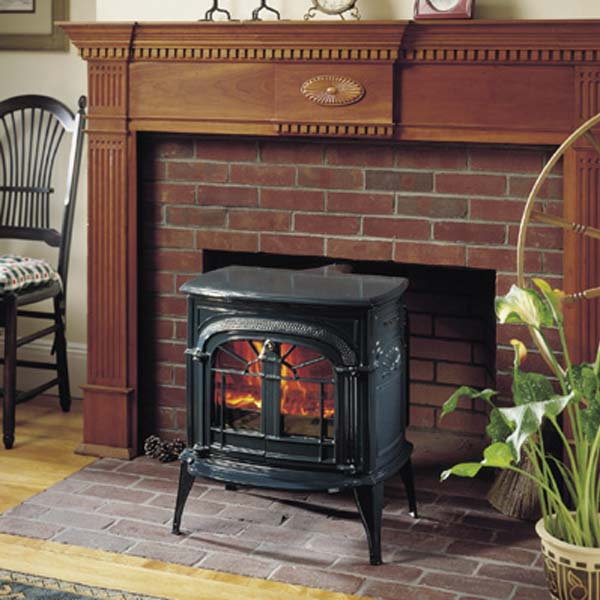 Intrepid installed into fireplace. - Intrepid Woodstove By Vermont Castings Georgetown Fireplace And