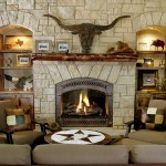 """Travis Industries """"Fireplace Xtrordinair 864 See Through"""" with hand hammered Copper front"""
