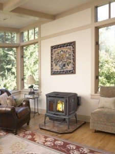 Leyden Pellet Stove at Georgetown Fireplace and Patio
