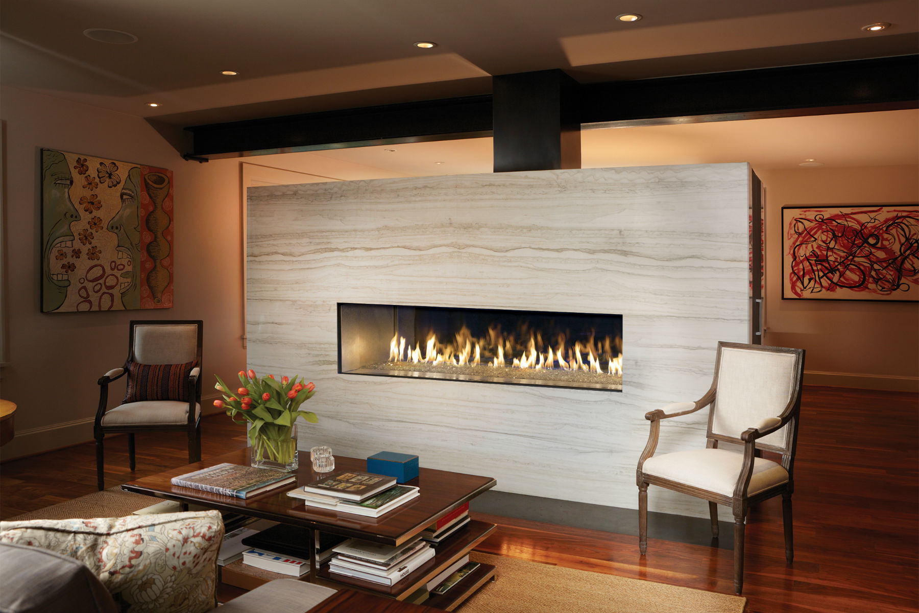 Captivating DaVinci Custom Linear Fireplaces From Travis Industries