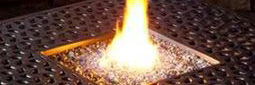 Firepit flame crop