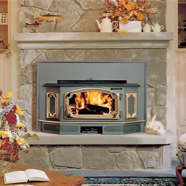 Freedom Bay Wood Burning Fireplace Insert by Lopi