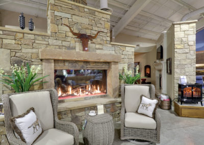 FPX Fireplace Display Behind Front Desk